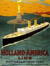 Pubblicità Viaggi Turismo HOLLAND AMERICA LINE Nave Oceano NEW YORK STAMPA lv1278