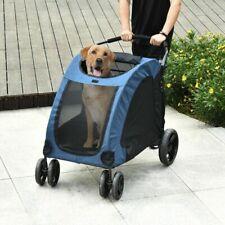 PawHut Pet Stroller Universal Wheel Ventilated Foldable Medium or Large Size Dog