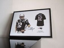 Tom Brady - Autogramm - Trikot - NFL - New England Patriots - Football Art