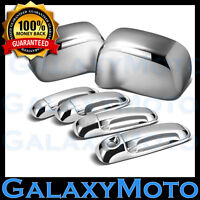 Chrome Mirror+4 Door Handle W/O PSG Keyhole Cover for 02-08 Dodge Ram