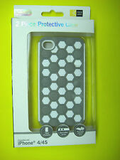 CASE LOGIC 2 PIECE PROTECTIVE CASE FOR APPLE IPHONE 4/4S WHITE AND GREY PATTERN