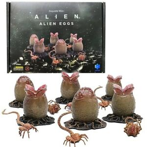 "Hiya Alien Egg & Face Hugger Set of 6 1.5"" Action Figure 1:18 Scale 2021 New"
