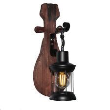 Applique LED luce parete lanterna vintage metallo industriale lampada E27 12W
