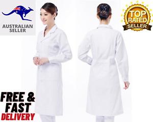 Lab Coat Women Medical Clinic Doctor Scientist Long Sleeve Uniform-OZ