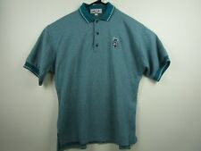 Vintage Mens Avid Large Green Short Sleeve 3 Button Polo Shirt Golf Made In USA