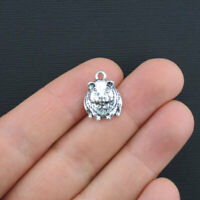 6 Hamster Charms Antique Silver Tone Just Too Cute Guinea Pig or Gerbil - SC3363