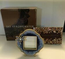Jay Strongwater Picture Frame Blue-Mini Dragonfly With Swarovski Crystals, New!