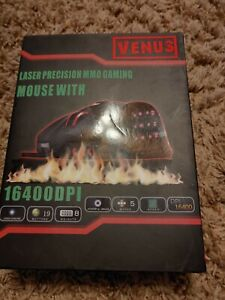 UtechSmart Venus Laser Precision MMO Gaming Mouse 16400DPI sealed