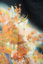 Vintage Japanese silk  Kimono  TOMESODE  from Japan 7-54