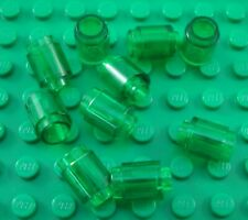 LEGO Lot of 10 Translucent Green 1x1 Round Brick Pieces