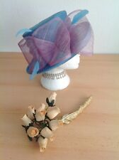 Beautiful Jacques Vert Blue Lilac Wedding Hat  Hats Mother of the Bride Church