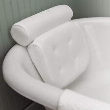 AM_ 1pc Bath Pillow Bathtub Spa Head Rest Neck Support Back Tub Holder w/Suction