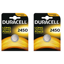 2 Pcs Duracell CR2450 ECR2450 CR 2450 3V Coin Cell Lithium Button Battery