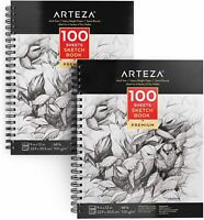 "ARTEZA Sketchbook, 9"" x 12"", 100 Sheets, Pack of 2"