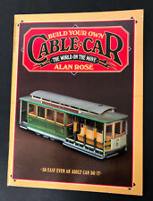 Vtg BUILD YOUR OWN CABLE CAR Paper Model Cut Out By Alan Rose Unused