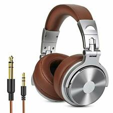Over Ear Headphone Wired Premium Stereo Sound Headsets with 50mm Driver Foldable