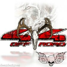 4x4  Decal OFF ROAD Camouflage Buck Camo Skull Sticker DODGE FORD A-007BU4