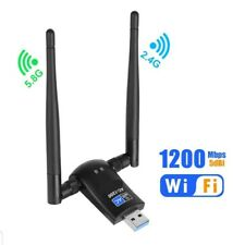 USB WiFi Adapter AC1200 Dual Band 5.8G 867Mbps/2.4G 300Mbps High Gain Dual 6dBi