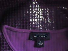 WITCHERY FauxLeatherSequinPurpleTank SizeS