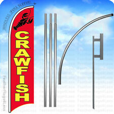 Crawfish Windless Swooper Feather Flag 15' Kit Banner Sign - rb