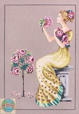 Cross Stitch Chart / Pattern ~ Mirabilia Peony Garden Lady #MD111