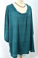 JMS Just My Size Top Knit Jersey Size 3X 22W 24W slinky jersey stretchy tunic