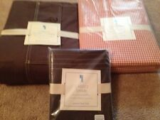 NEW Pottery Barn Kids Brown Cargo Twin Duvet Cover, Standard Sham, Gingham Sheet