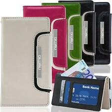 Handy Tasche HTC One M8 M9 Mini 2 Schutz Hülle Wallet Case Flip Cover Klapp Etui