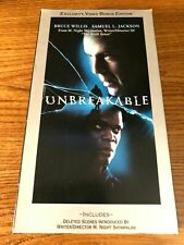 Unbreakable Vhs Vcr Video Tape Movie Samuel L. Jackson, Bruce Willis Used