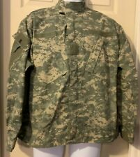 Military Digital Camo Zipper Front Coat Army Combat Uniform M-Short