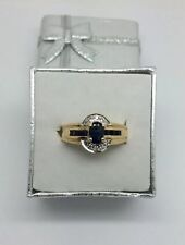 14K Yellow gold Natural Sapphire Ring