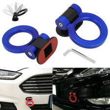 Blue Universal ABS Ring Racing Car Bumper Trailer Tow Hook Decoration Sticker