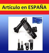 ADAPTADOR 3-way pecho cabeza camara GoPro SJ4000 SJCAM arnes accesorios soporte