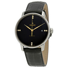 Rado Coupole Classic L Black Dial Diamond Automatic Mens Watch R22860715