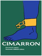 Movie Poster for film Cimarron.Black slave freedom.Home Room art decor design