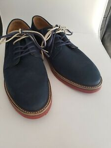NEW 1901 Nordstrom Navy Blue Leather Lace Up Dress, Casual Men's Shoes Size 8