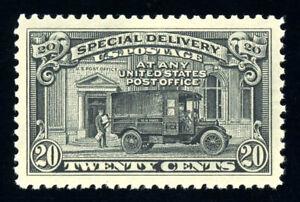 #E14, 20c Mail Truck - Black, Superb-OG-NH, 2015 PSE (98, nh) - a perfect stamp