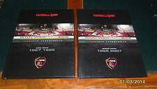 CALCIO AS ROMA: OTTANT'ANNI IN GIALLOROSSO (2 libri, 390 pag) Ottime condizioni