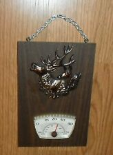 Mid Century Retro Deer Buck Doe Elk Hunter'S Thermometer, A & F Canada