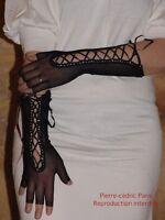 Gants Mitaines femmes longues sexy Résille Lacées