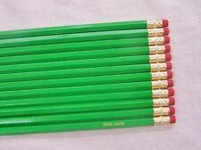 "24 Hexagon ""Bright Green"" Personalized Pencils"