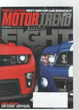 MOTOR TREND CAR MAGAZINE - October 2012