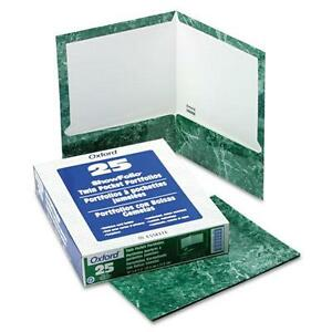 Oxford Marble Design Laminated High Gloss Twin Pocket Folder, Em 078787516175