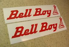 Bell Boy Vintage Boat Decal Sticker Die Cut 2-PAK FREE SHIP + FREE Fish Decal!