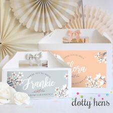 PERSONALISED WEDDING GIFT BOX    BLOSSOM   PARTY FAVOUR BAG