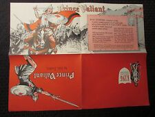 "1970's PRINCE VALIANT 22x17"" Promo Fold-Out Poster by Hal Foster FN- (A)"