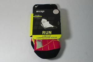 CEP Sportswear Dynamic+ Low-Cut Socks Size III Womens Medium Lime/Pink