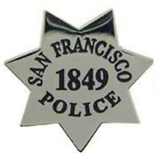 Pin Police Badge San Francisco New Metal Lapel Pin Law Enforcement Collector