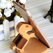 Cute Wood Desk Holder Stand for iPhone 7 plus 4.7-5.5'' 5S Samsung HTC LG Phone