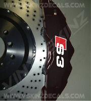 Audi S3 Logo Premium Cast Brake Caliper Decals Kit Stickers S-line Quattro TFSI
